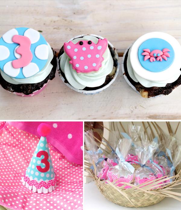 Fondant Crabby Cupcakes, Hat, Cookies