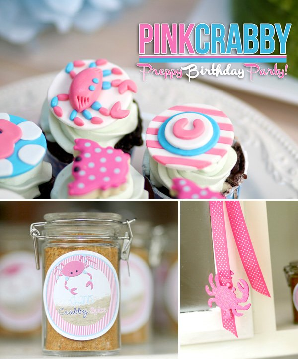 Pink Crabby Birthday Party