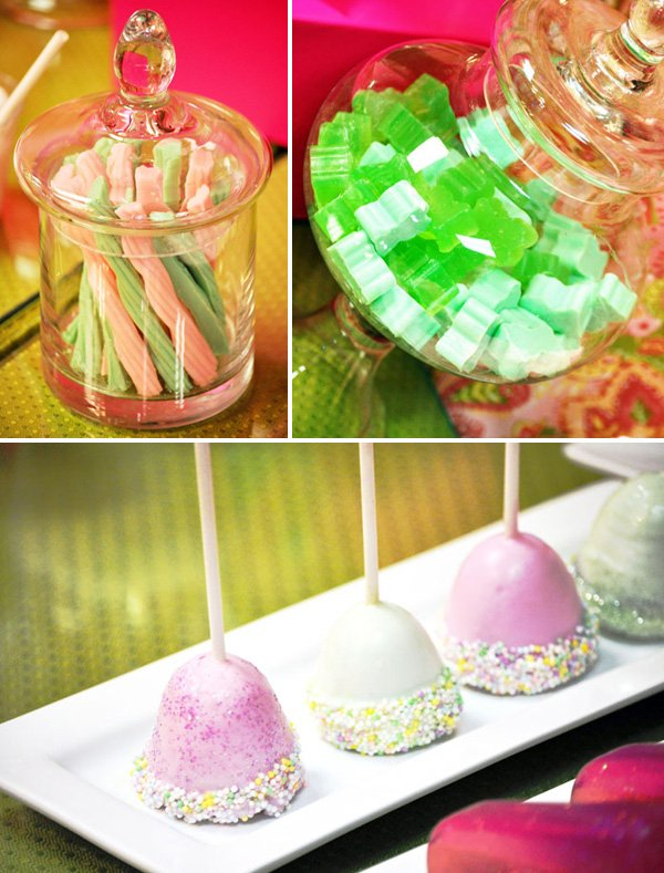 Girls Spa Birthday Party Dessert Table