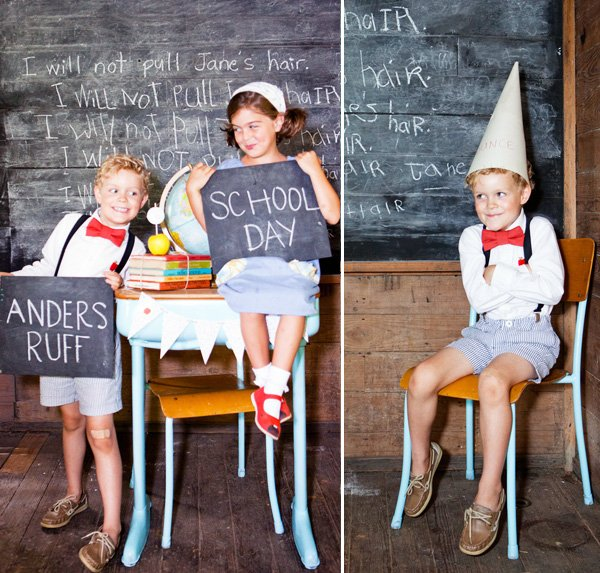 Vintage Schoolhouse Party Theme