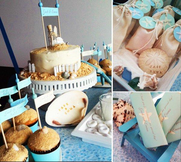 beach wedding or bridal shower
