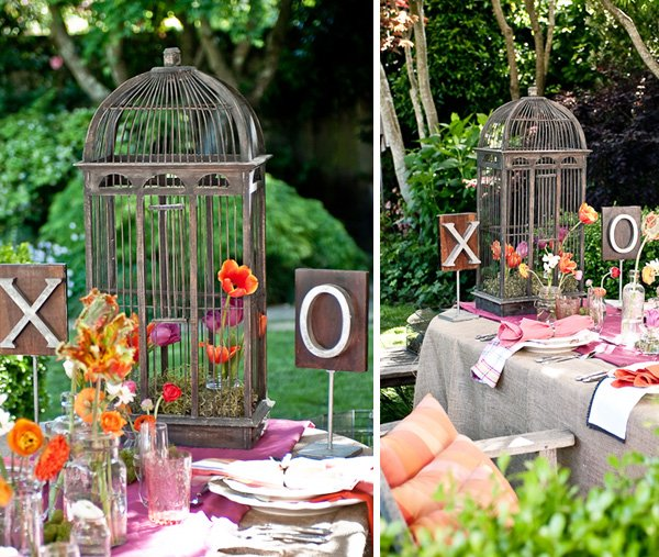 Pink and Orange Garden Wedding