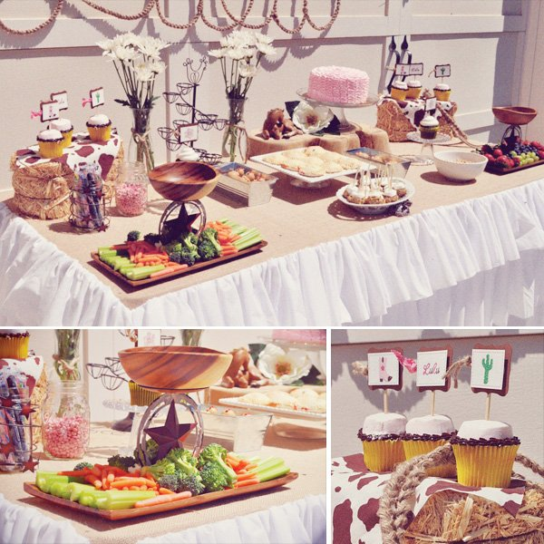 Cowgirl Chic Food Table