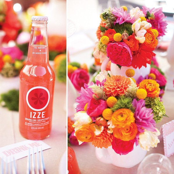 Pink Orange Wonderlandia Wedding, Tea Party