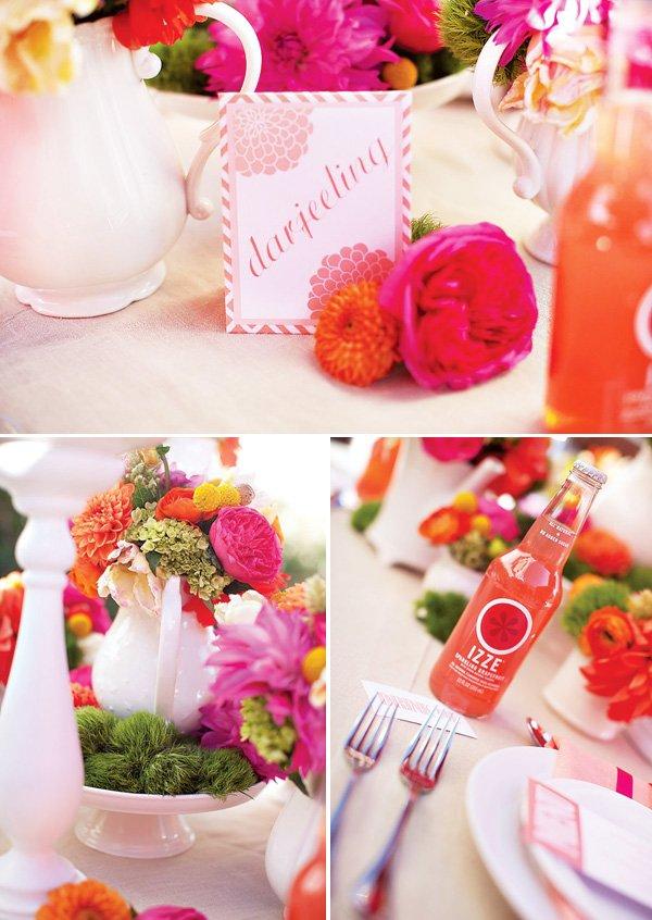 Wonderlandia Table 3 Pink Orange Tea Inspired Wedding Theme
