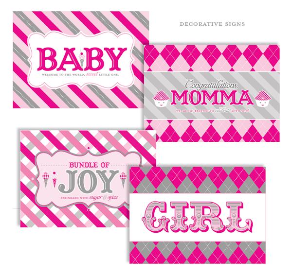 Sweet Shoppe Baby Shower Girl Printables