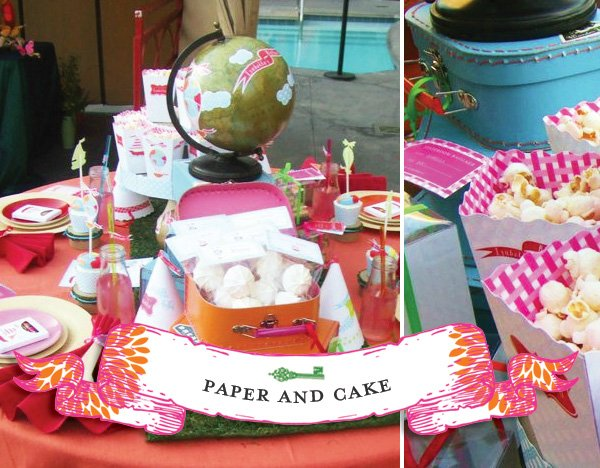 Alice in Wonderland Adult Kids Party Table