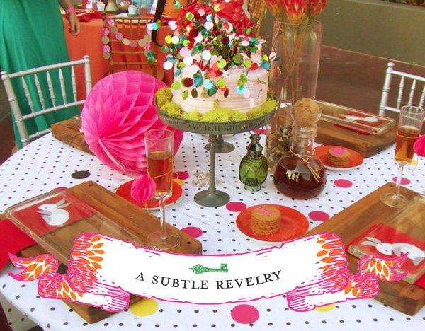 Alice in Wonderland Bridal Shower Table