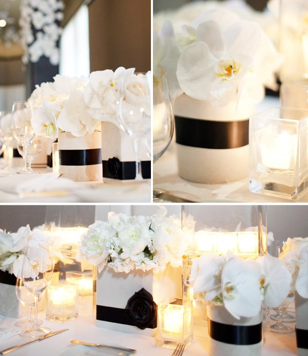 Black and White Engagement Party