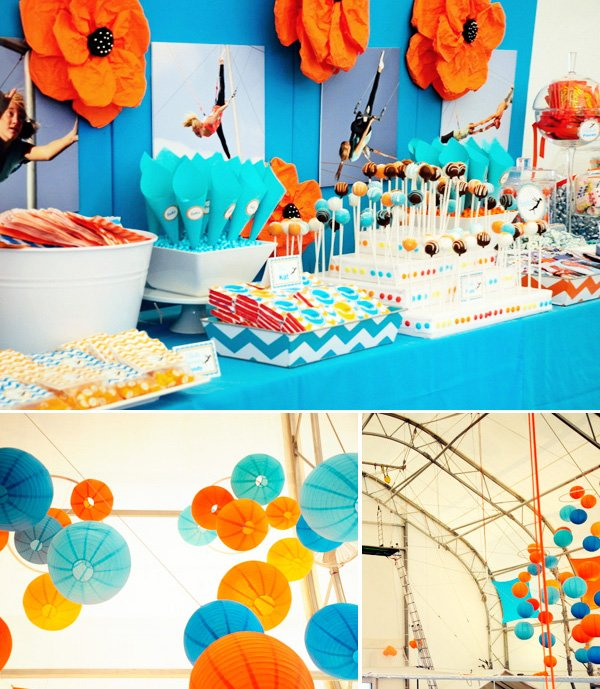 Trapeze Birthday or Bat Mitzvah Party Theme
