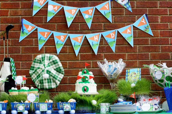 Super Cute Creative Golf Themed Birthday Hostess with the Mostess