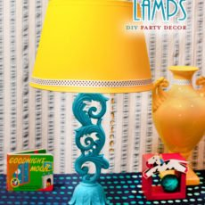 Faux Table Lamp Centerpiece