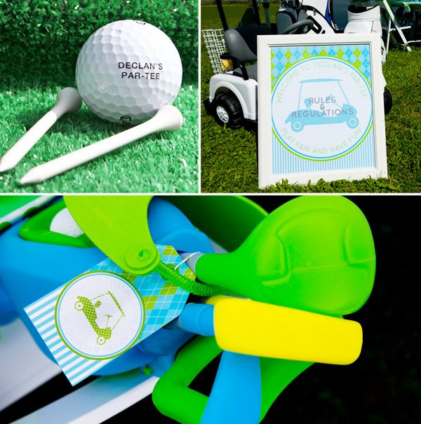 Classic Golf Themed Birthday Party