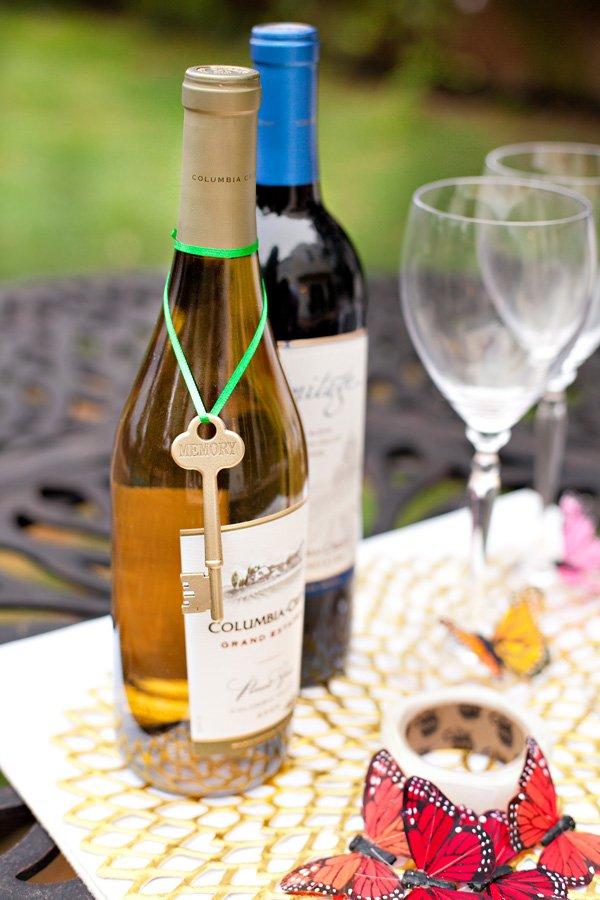 Skeleton Key Wine Bottle Tag