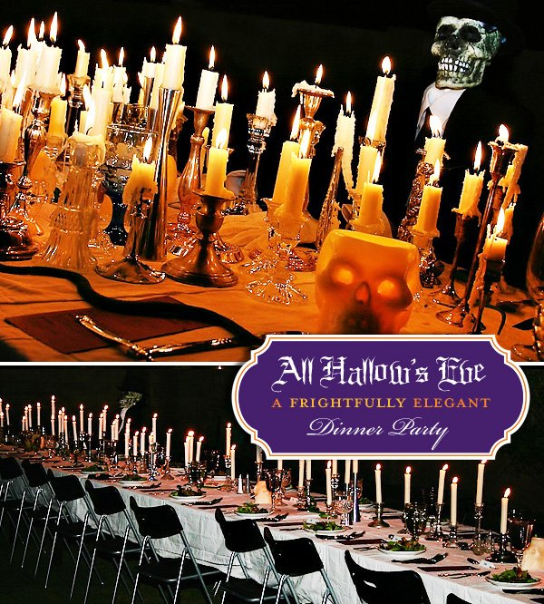 spooky elegant halloween dinner party ideas