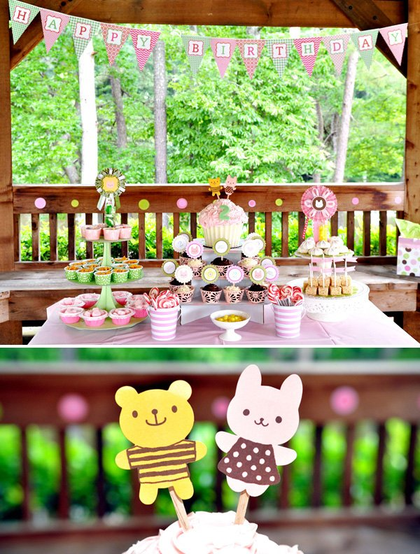 Modern Bunny Bear Cookout Party