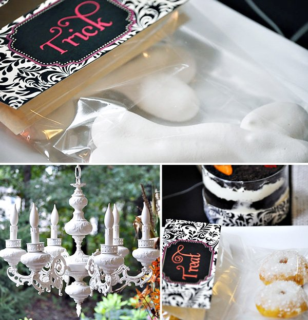 Rustic Elegant Halloween Dessert Table