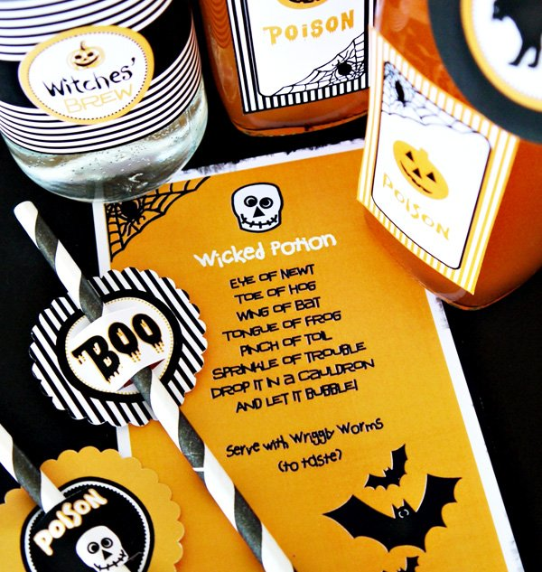 Witch's Potion Cupboard Kids Halloween Party