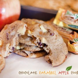 Chocolate Caramel Apple Cookies Recipe
