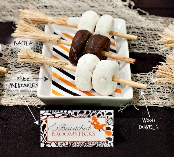 Halloween Donut Broomsticks
