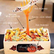DIY Halloween Candy Server - Skeleton Hand