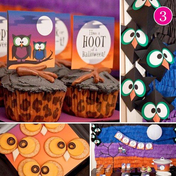 Kids Owl Halloween Party Ideas