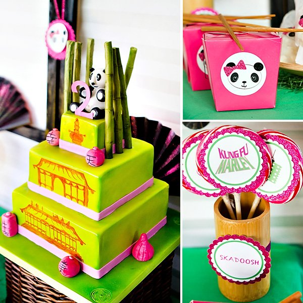 Incredible Pink Green Kung Fu Panda Birthday Party Hostess With The Mostess Funny Birthday Cards Online Alyptdamsfinfo