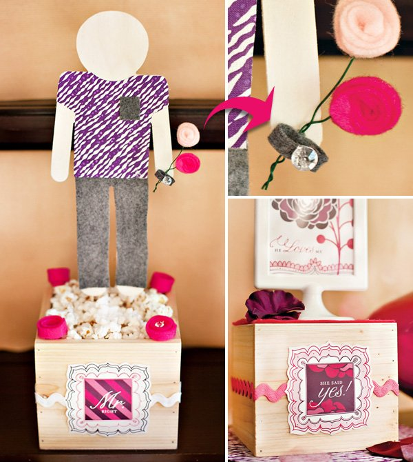 Petals & Popcorn Pink Purple Bridal Shower