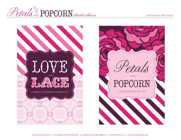 Pink Purple Bridal Shower Free Printables