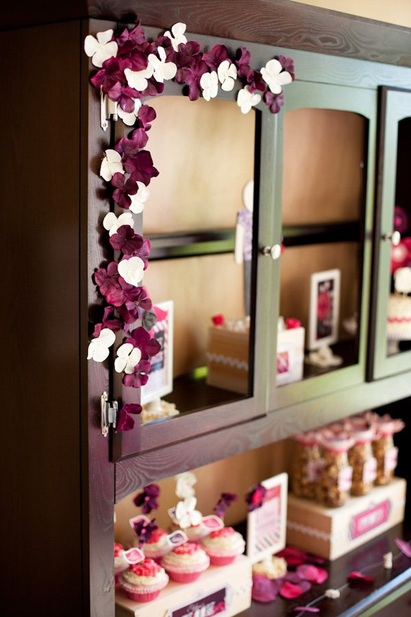 Petals & Popcorn Pink Purple Bridal Shower