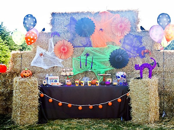 Purple Orange Black Halloween Party