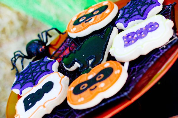 Purple Orange Black Halloween Party