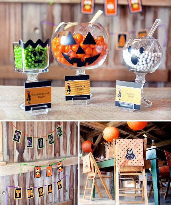A Classic &amp Rustic Kids Halloween Party // Hostess with - Kids Halloween Party