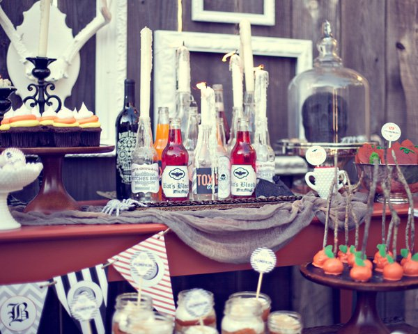 rustic vintage halloween party