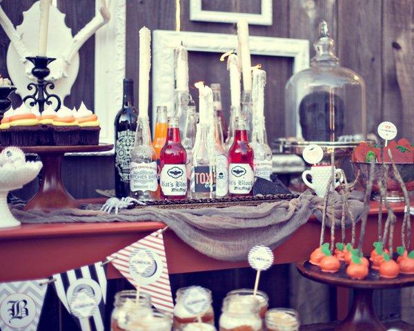 rustic vintage halloween party