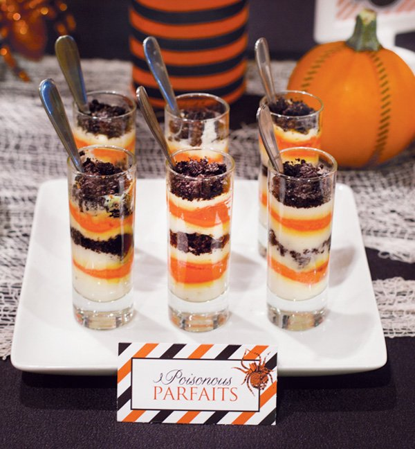 Smashed Pumpkin Halloween Parfaits