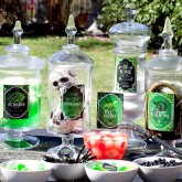 Spells and Potions Halloween Jar Labels