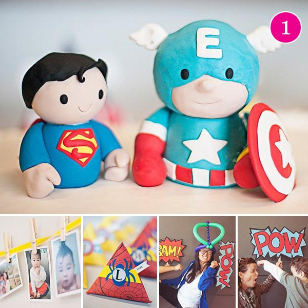 Vintage Superhero Birthday Party