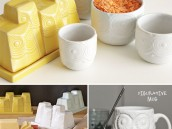 Owl Butter Dishes and Measuring Cups - West Elm