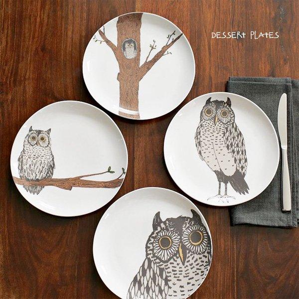 Owl Plates - West Elm