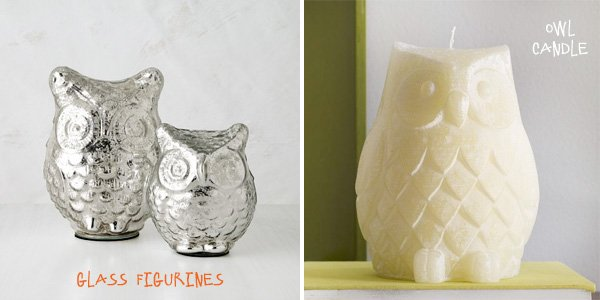 Owl Gift Ideas - Figurines and Candle