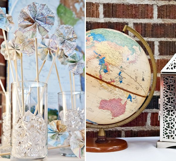 Diy vintage style travel themed wedding hostess with the mostess around the world travel wedding theme junglespirit Gallery