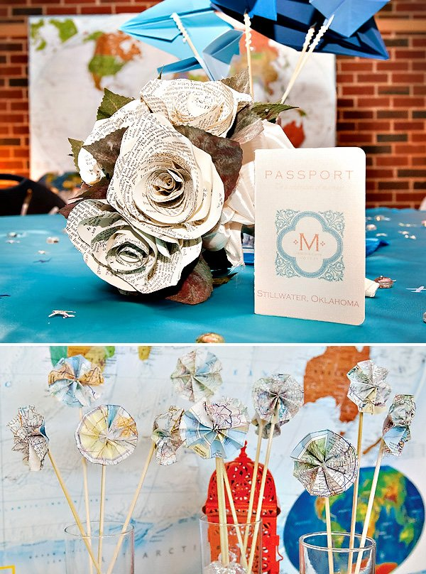 Around the World Travel Wedding Theme