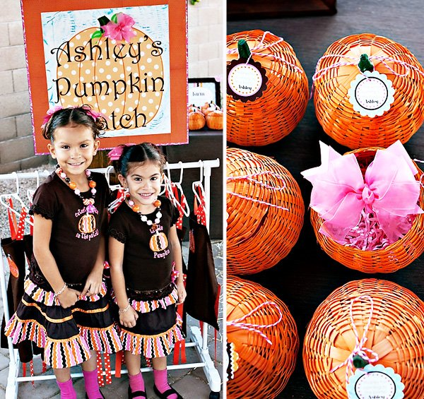 Girlie Fall Pumpkin Themed Birthday Party