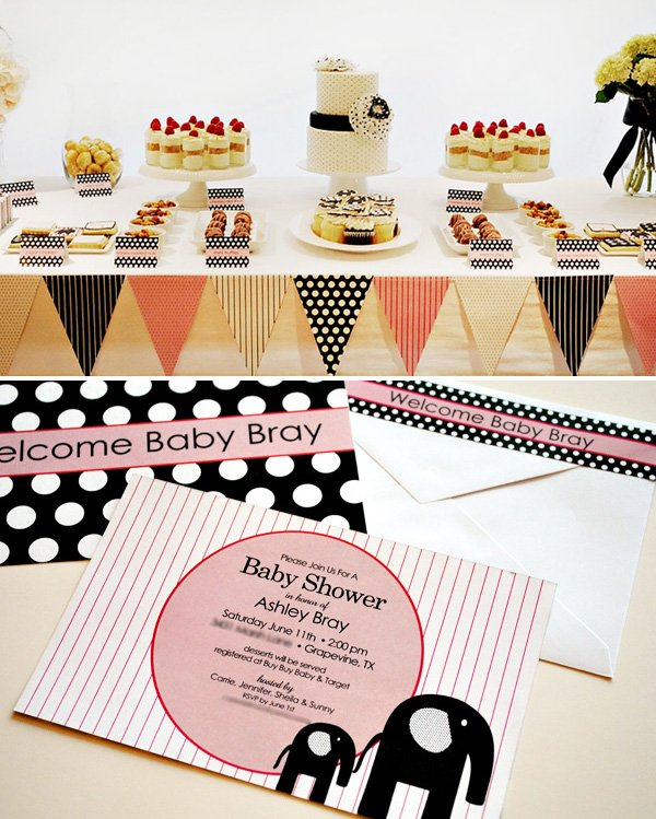 Modern Elephant Themed Baby Shower
