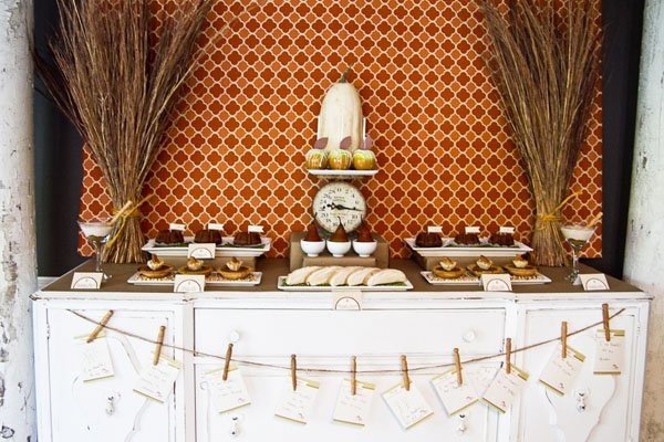 Fall Harvest Dessert Table