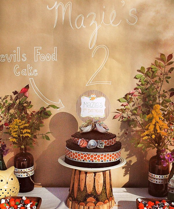 Owl Themed Fall Birthday Party