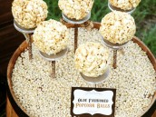Popcorn Balls displayed on The Pastry Pedestal™