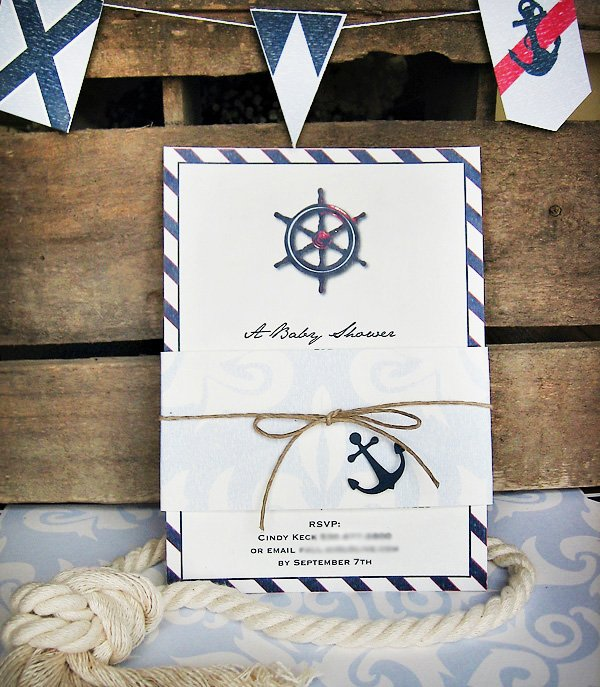 Vintage Nautical Baby Shower