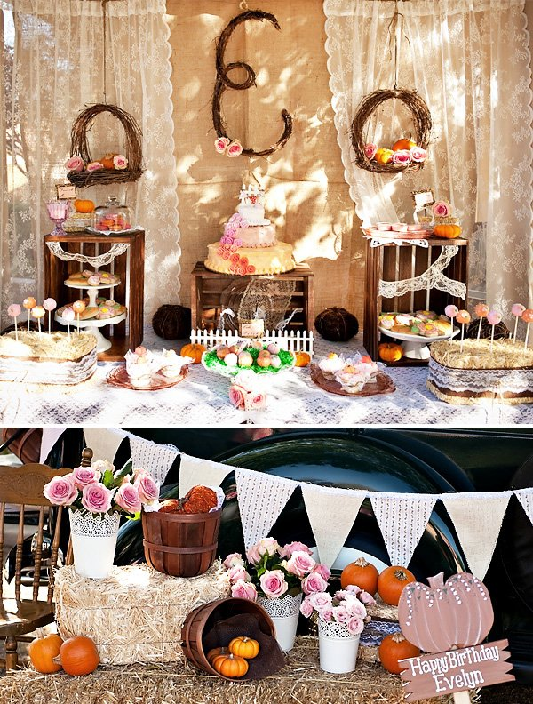 Vintage Pumpkin First Birthday Party Ideas